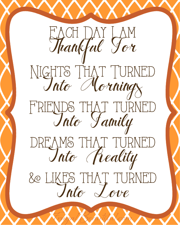 Each Day I Am Thankful- Free Gratitude and Holiday Printables From ...